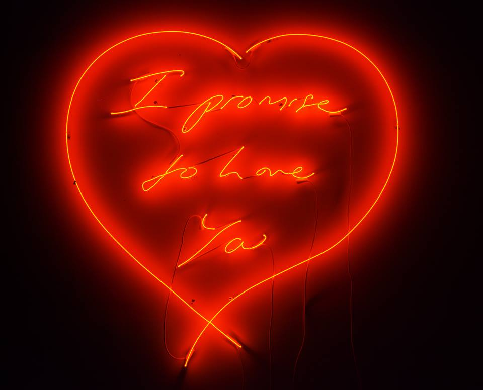 Tracey Emin- I promise to love you - 2007, neon
