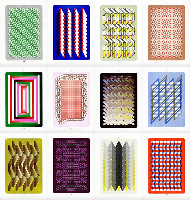 Sigrid Calon - Riso prints op Munken Pure papier, elk 46 x 34 cm, oplage 50, € 120,- per 3 stuks (set zelf samen te stellen) - foto: We Like Art