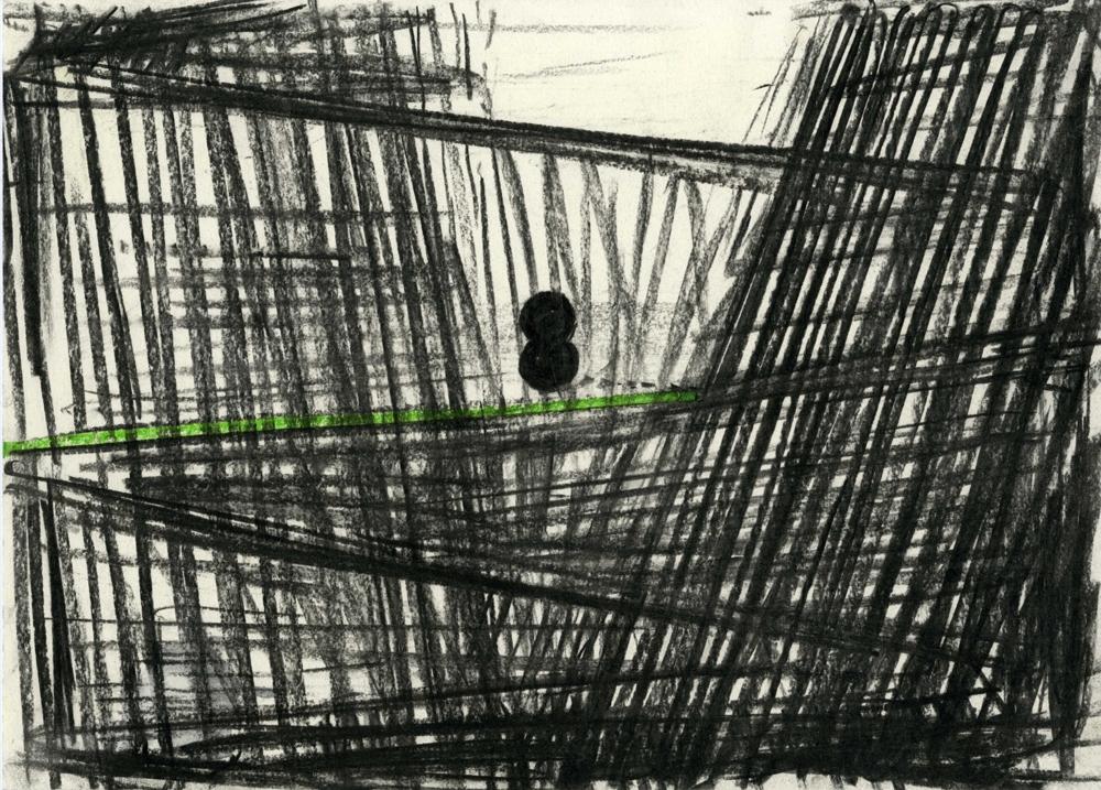 Ronald Noorman - Zonder Titel - 2013 - Houtskool en pastel op papier - foto: Nouvelles Images