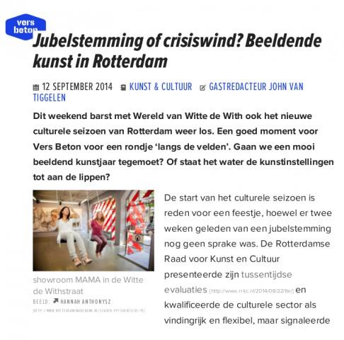 Jubelstemming of crisiswind_ Beeldende kunst in Rotterdam _ Vers Beton